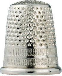 Fingerhut ST 16,0 mm silberfarbig, 4002274312120