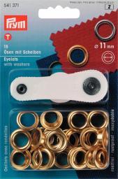 Ösen und Scheiben MS 11,0 mm goldfarbig, 4002275413710