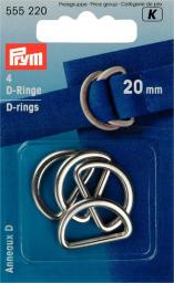 Halbrundringe 20 mm silberfarbig, 4002275552204