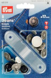 NF-Jeans-Knöpfe American Star MS 17 mm altsilber, 4002276222106