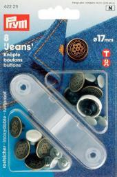 NF-Jeans-Knöpfe Blume MS 17 mm altmessing, 4002276222113