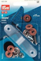 NF-Jeansknopf Sterne offen 17 mm altbronze, 4002276222380