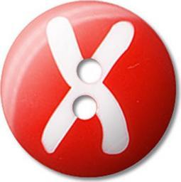 Knöpfe Buchst.X 5St 15mm, 4028752288763